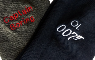 Beautiful Embroidered Personalised Socks